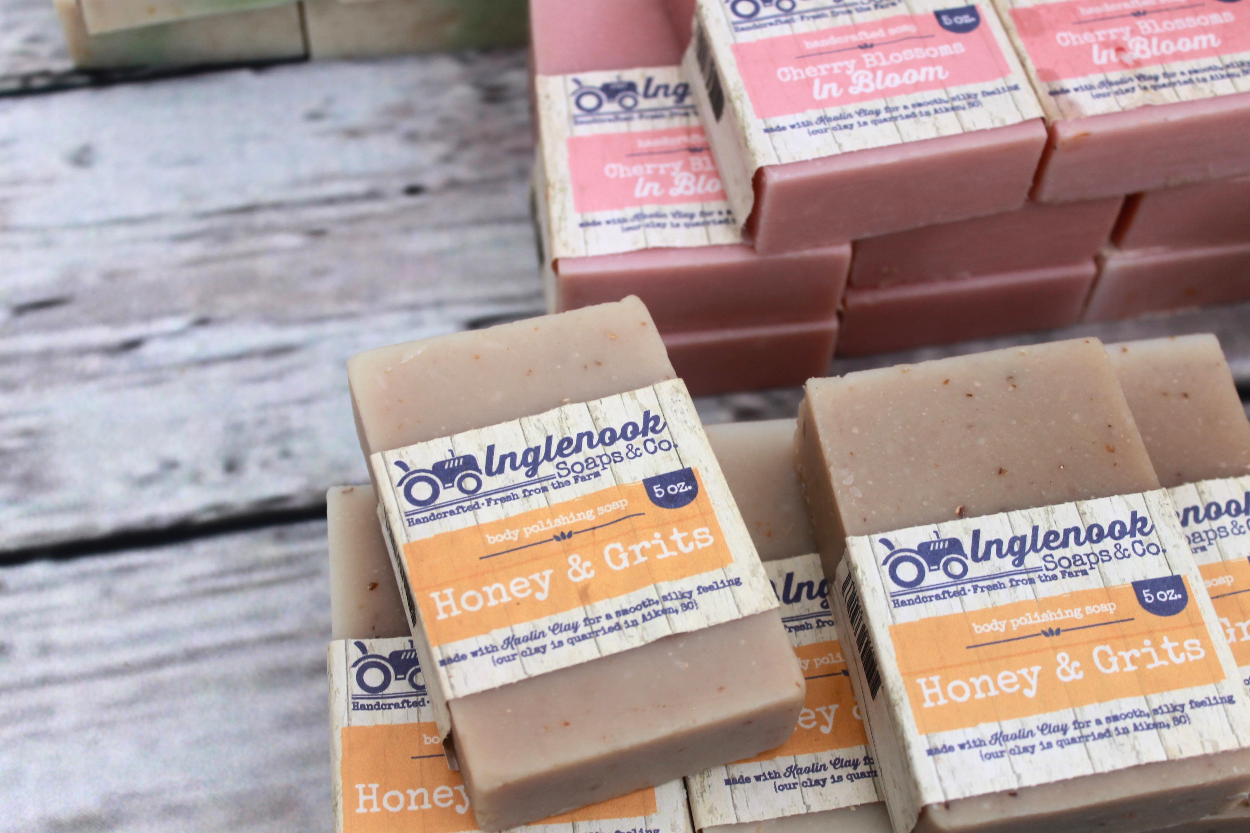 Handmade soap from the Soda city market