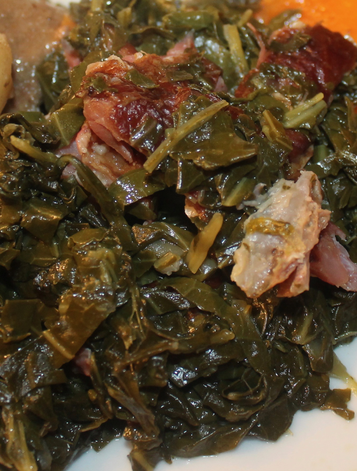How to Cook Collard Greens with Smoked Neck bones