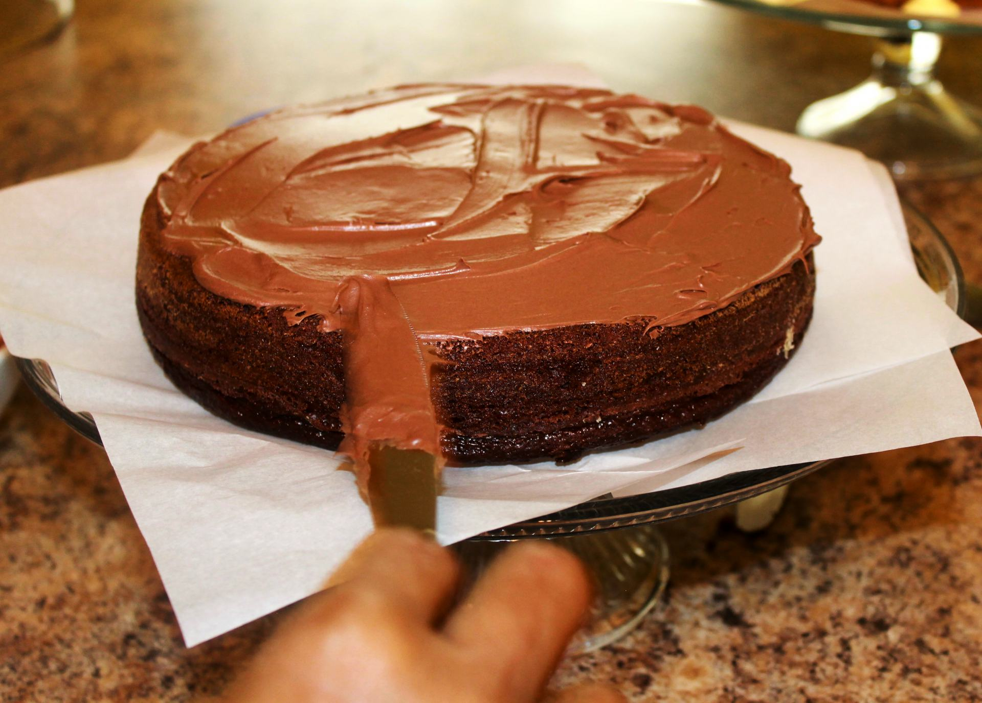 Triple layer chocolate cake recipe