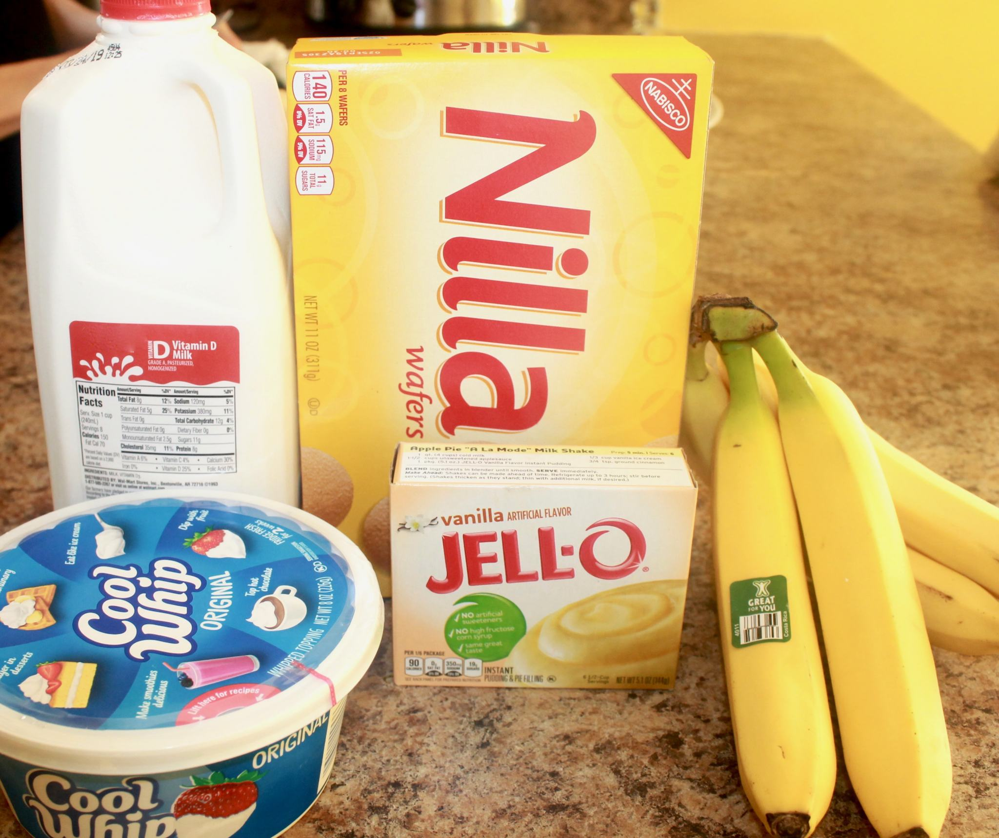 Ingredients for Banana Pudding Recipes