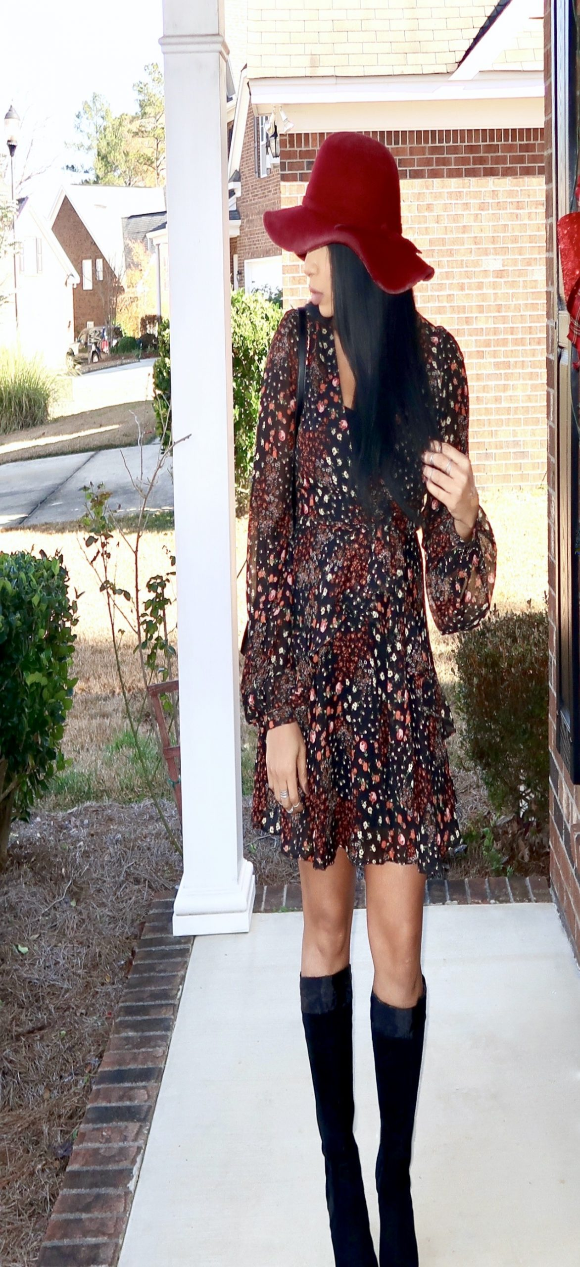 Wearing floral print in the Fall and Winter