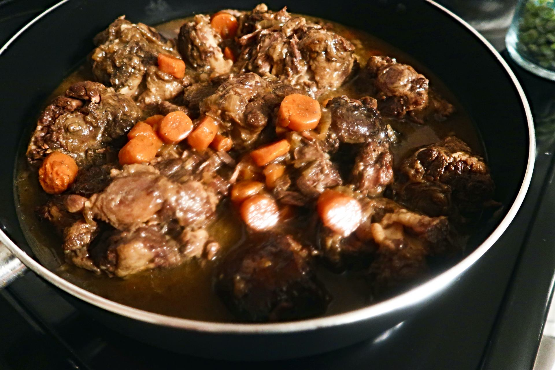 A Jamaican Oxtail Recipe with a southern twist