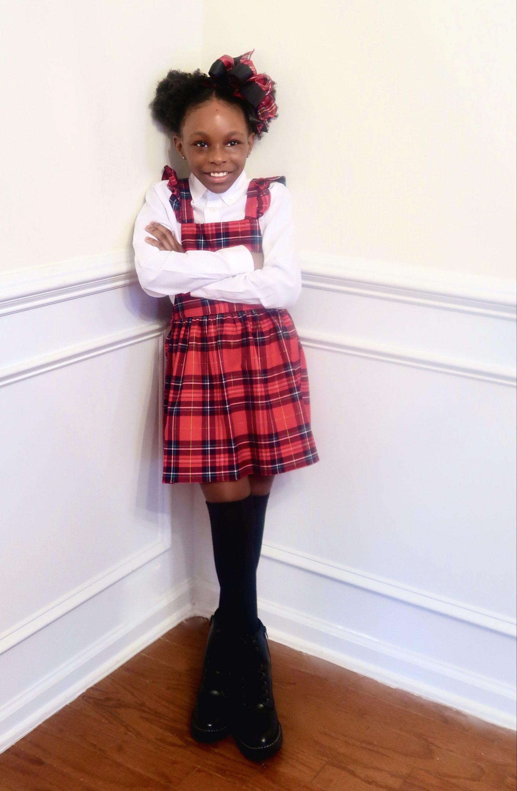 The Perfect Plaid Dress for a Little girl